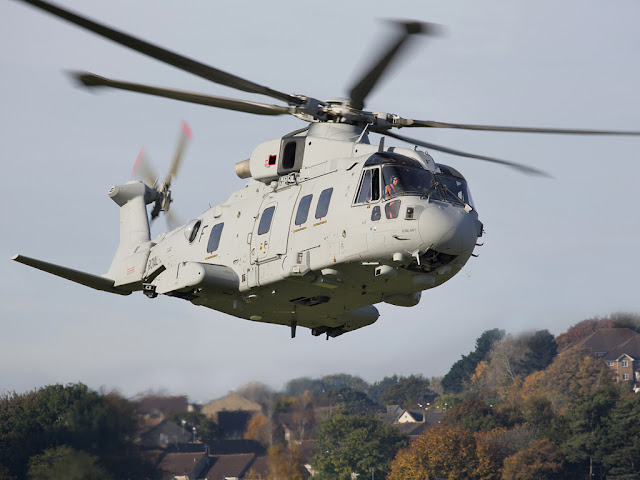FIRST ROYAL NAVY AW101 MERLIN MK4 MAKES ITS MAIDEN FLIGHT
