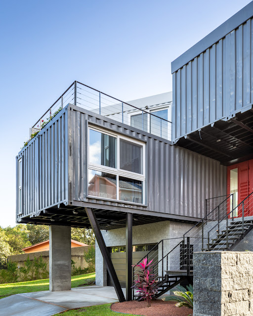 Casa Conteiner RD - 350 sqm Two Story Shipping Container Home, Brazil 7