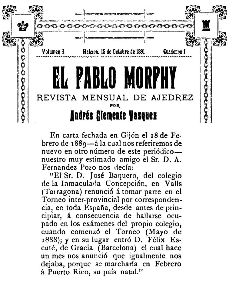 15/10/1891 - Revista El Pablo Morphy, página 14