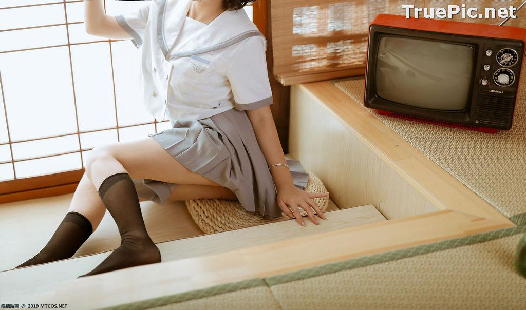 Image [MTCos] 喵糖映画 Vol.039 – Chinese Cute Model – Japanese School Uniform - TruePic.net - Picture-5