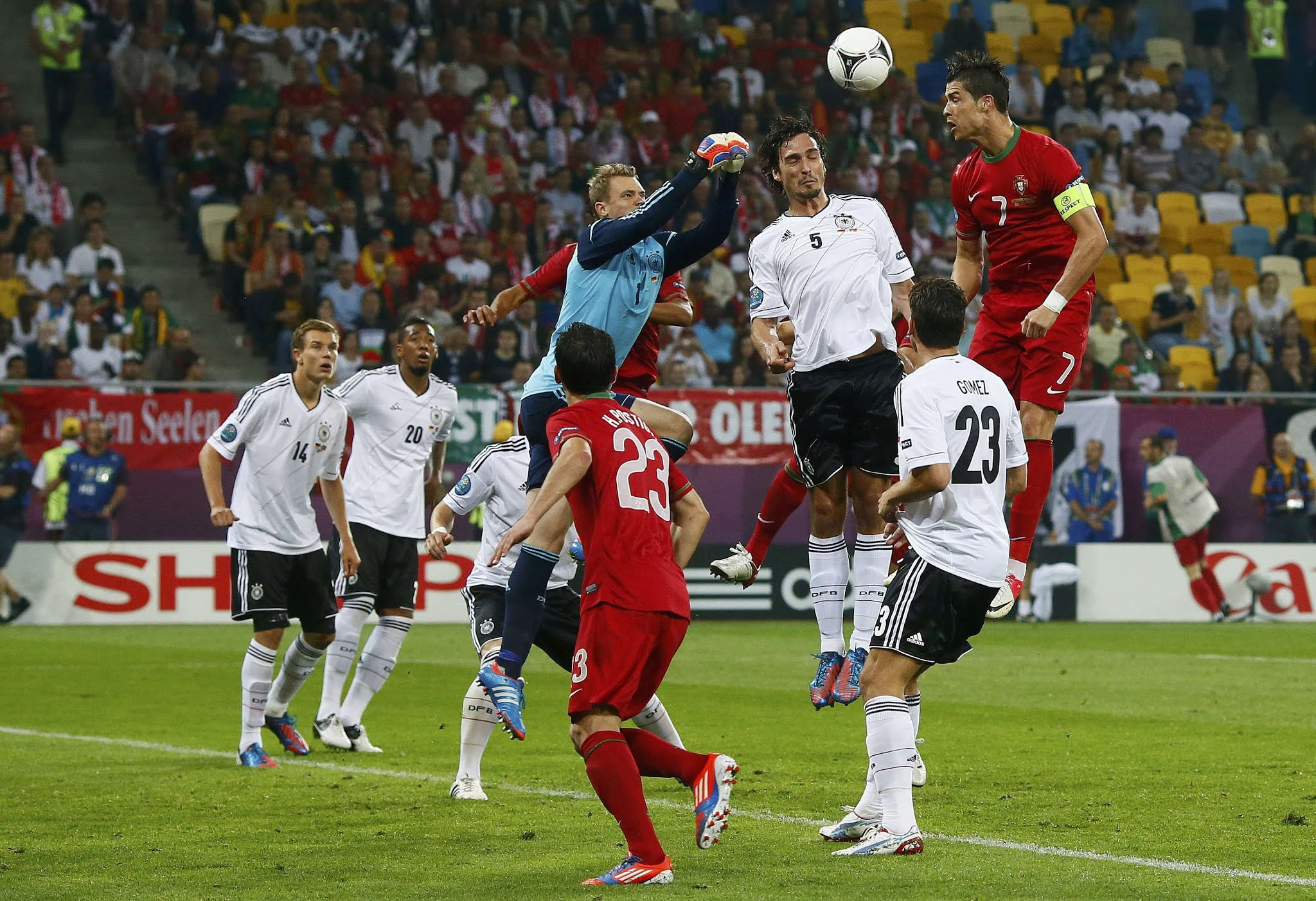Cristiano Ronaldo and Manuel Neuer will captain Portugal and Germany in the pick of Saturday's action