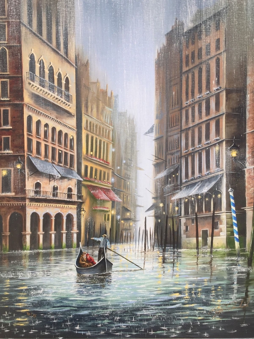 02-Magical-Jeff-Rowland-Paintings-of-Romantic-Scenes-in-the-Rain-www-designstack-co