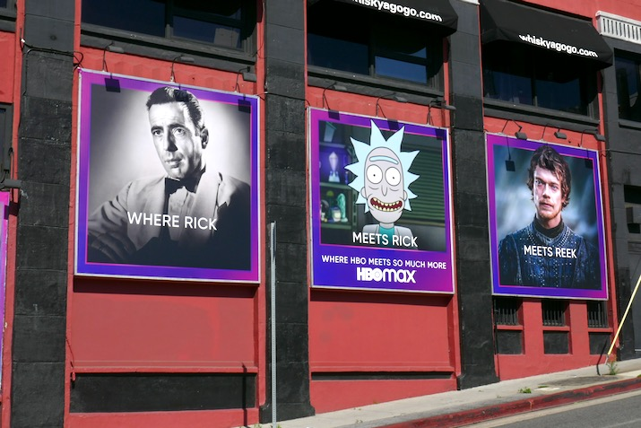 HBO Max Where Rick meets Reek billboard