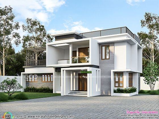 4 bedroom flat roof style house 1946 square feet