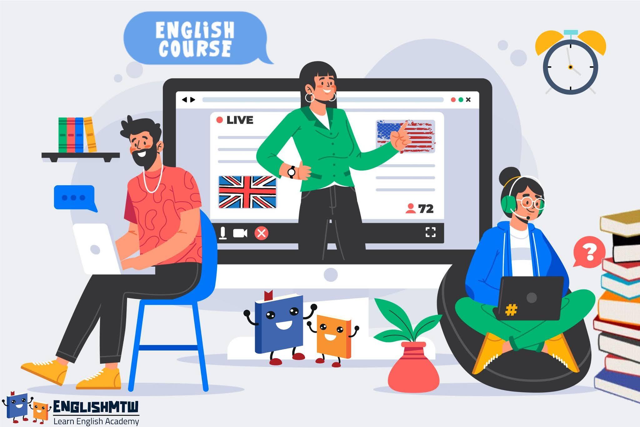 أشهر 6 دورات في اللغة الإنجليزية للمستوى المتوسط