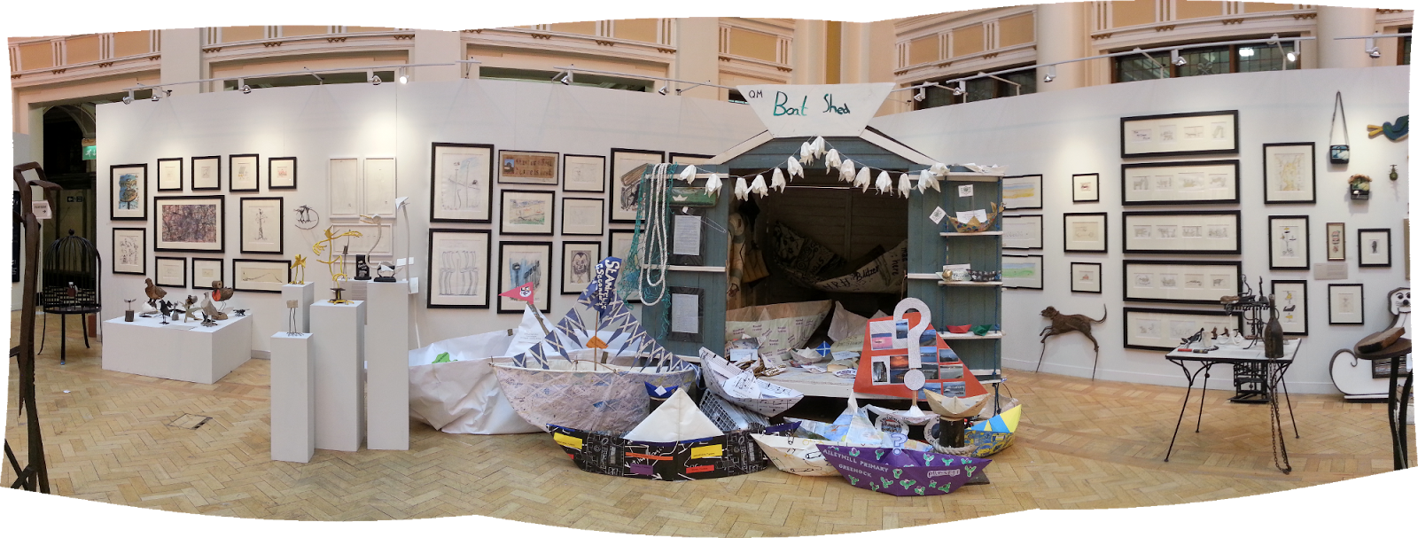 George Wyllie Exhibition, Boat Shed, Mitchell Library, Glasgow
