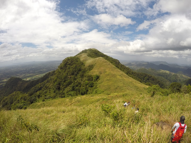 Goint to Mt. Apayang From Mt. Talamitam Summit