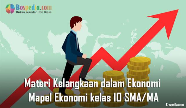 Materi Kelangkaan dalam Ekonomi Mapel Ekonomi kelas 10 SMA/MA