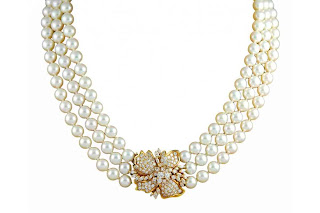 Pearl Necklace Healing Beads Gemstone Jewelry