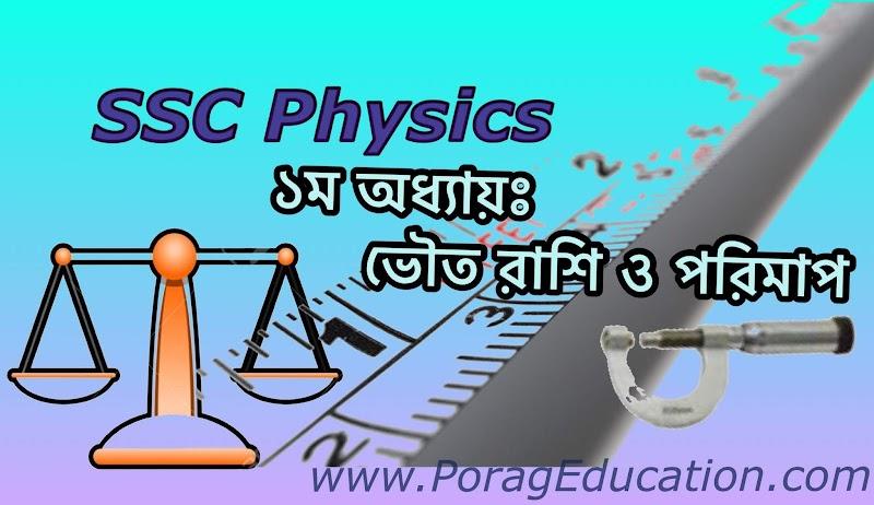 SSC Physics Chapter 01 Shortcut Note
