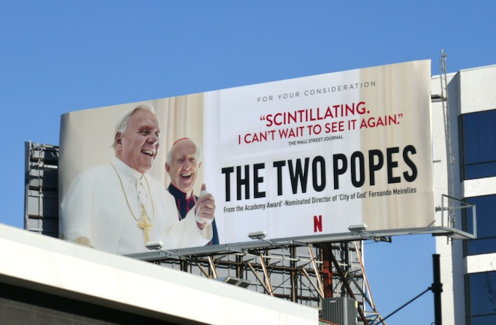 Two Popes film FYC billboard