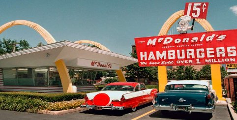 When was the fast food chain Mcdonald's founded?