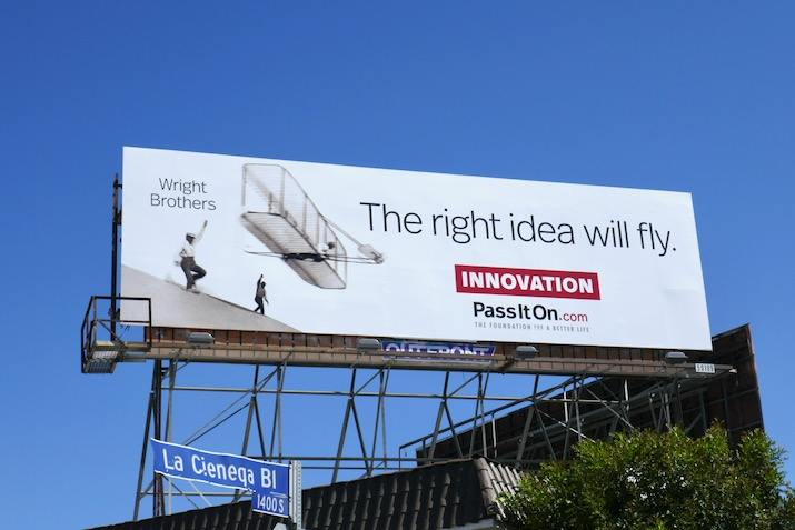 right idea will fly Innovation billboard