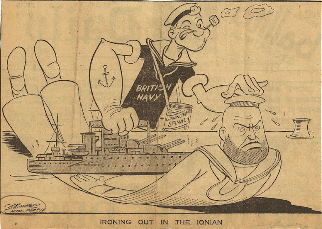 1 April 1941 worldwartwo.filminspector.com British cartoon Strube The Daily Express