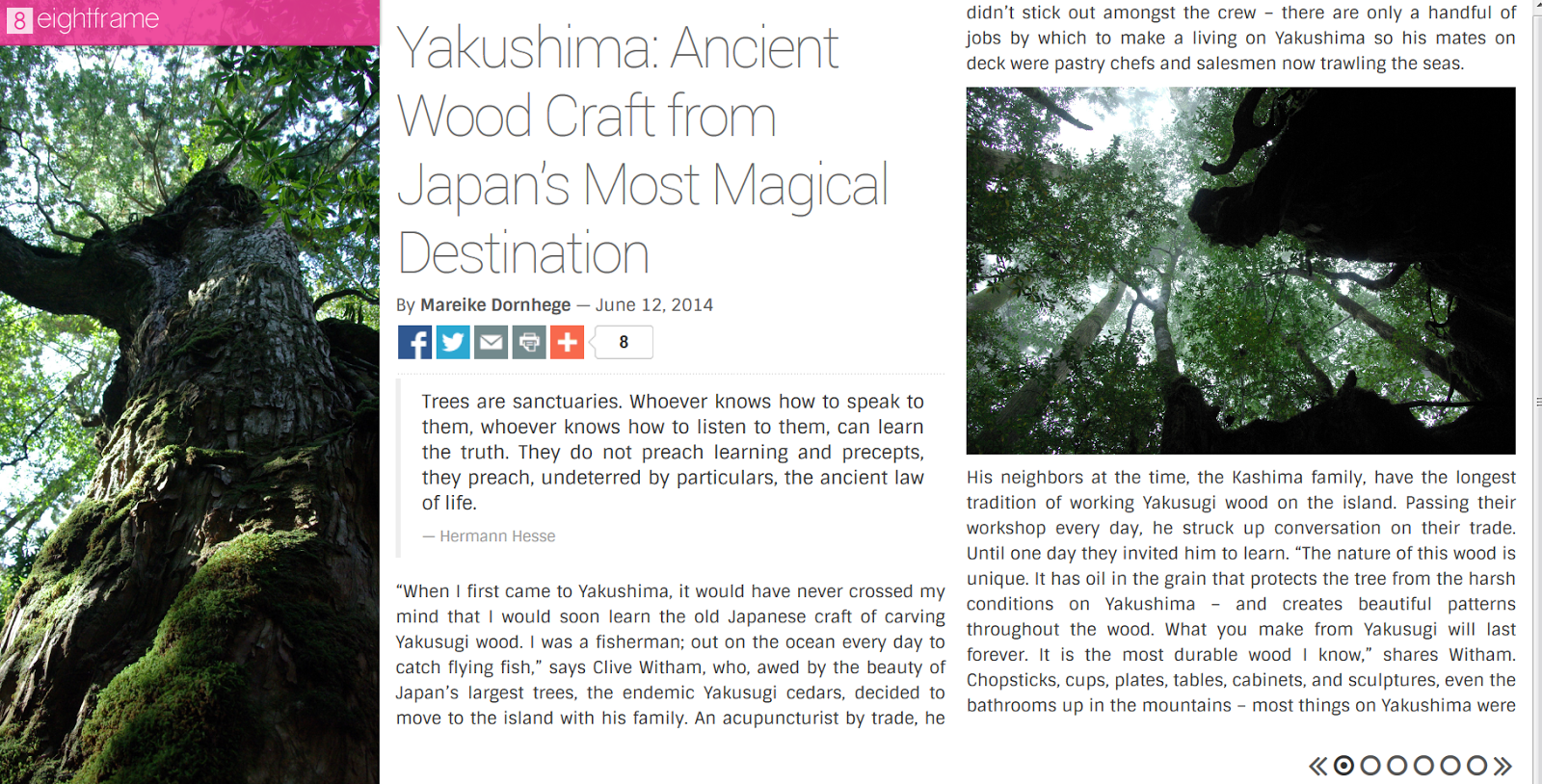 http://eightframe.jp/issue/1/articles/yakushima-ancient-wood-craft-from-japans-most-magical-destination/#.VKaXQnurGPK