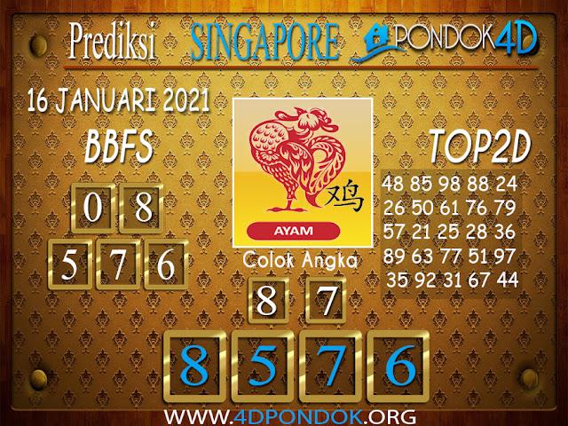 Prediksi Togel SINGAPORE PONDOK4D 16 JANUARI 2021