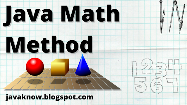 Java Math class - Math method in java with example