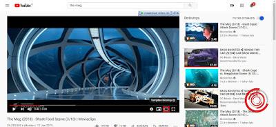 2. Setelah itu cari video yang ingin di tonton dan pilih pada bagian bawah Tampilan bioskop bukan Miniplayer