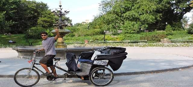 Pedicab Rickshaw Guide at Central Park