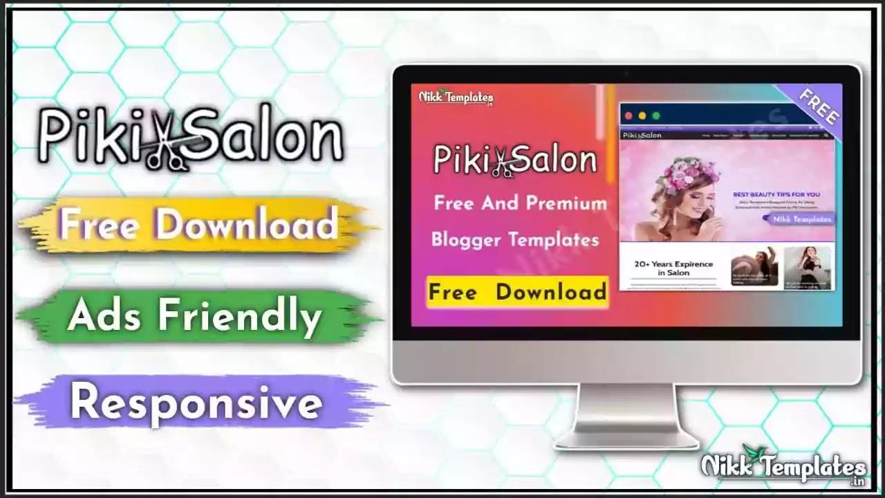[Paid] Piki Salon - Portfolio & Responsive Blogger Template {Free Download}