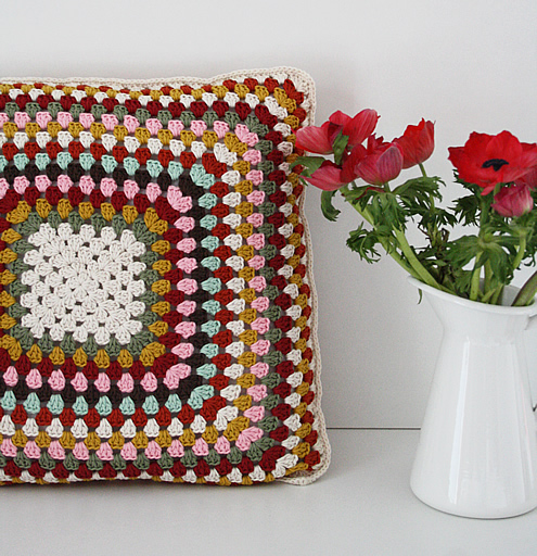 Vintage inspired granny pillow case