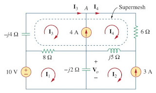 mesh analysis ac circuit