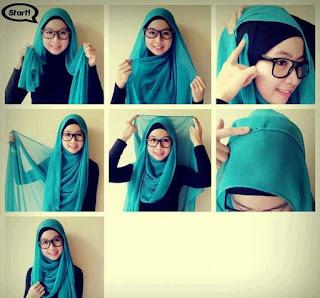 Model Hijab Pashmina Untuk Yang Berkacamata
