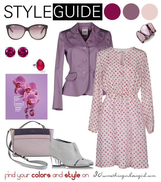 charming and soft outfit with Radiant Orchid for Soft Summer