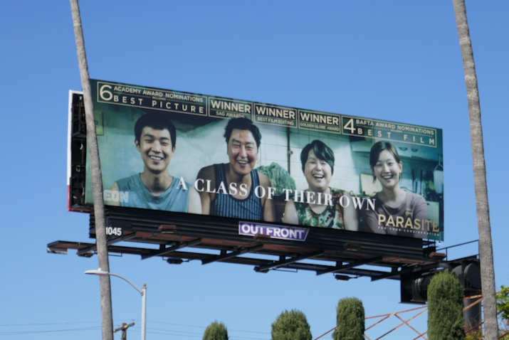 Parasite Oscar nominee billboard
