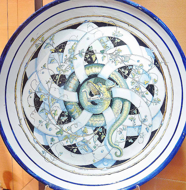 Yan Dargent ceramic plate