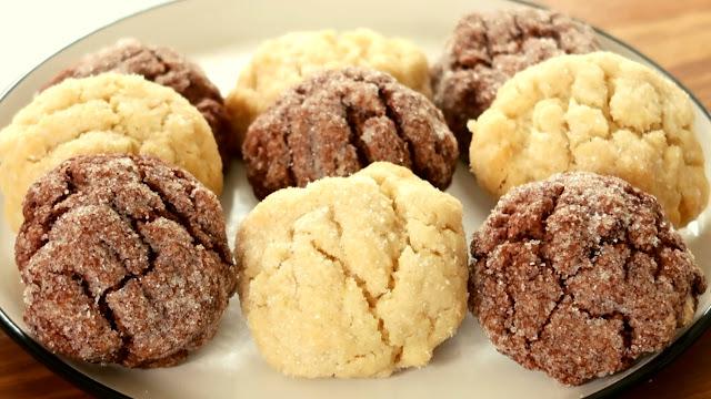 recette, cookies, cookies givrées, craquelés, cookies en 5 minutes, peu d'ingrédients