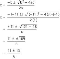 contoh cara mencari akar-akar persamaan kuadrat dengan cara menggunakan rumus ABC