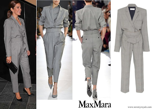 Crown Princess Mary wore Max Mara Jumpsuit Max Mara Spring 19 collection