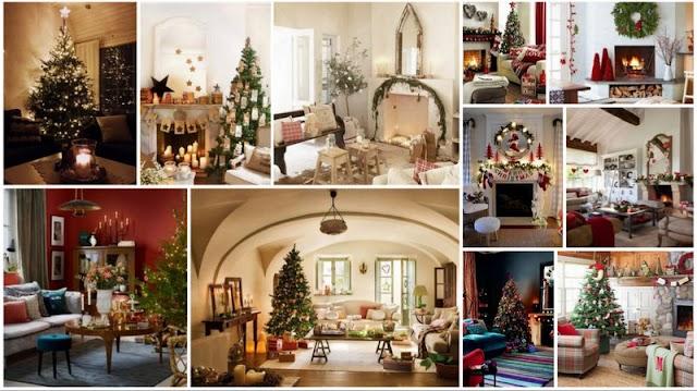 30+ Χριστουγεννιάτικες Διακοσμήσεις για το Σαλόνι