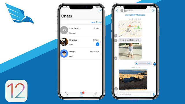 iOS 12 Chat Application like WhatsApp and Viber