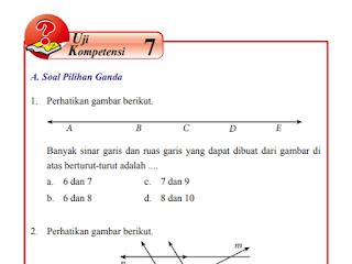Uji Kompetensi 7 Matematika kelas 7 halaman 171-180