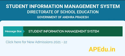 STUDENT INFORMATION MANAGEMENT SYSTEM - New Admissions 2021-22