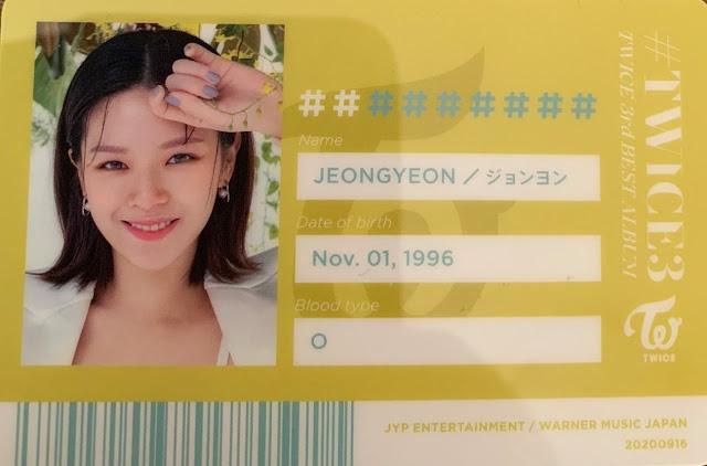 TWICE 3 Jeongyeon ID
