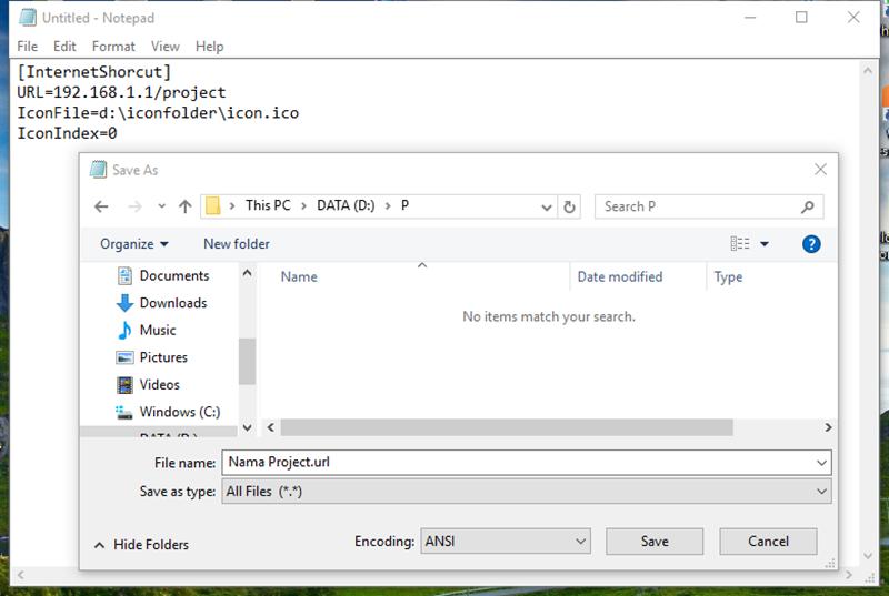Membuat Shortcut Aplikasi PHP Agar Langsung Akses Ke Browser