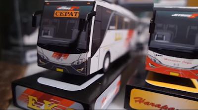 Cara Pembuatan Miniatur Bus Dari Kardus