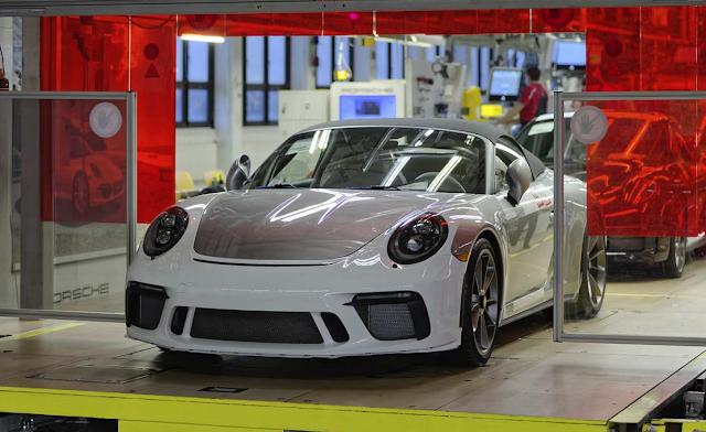 Porsche 911 rolls off the production line