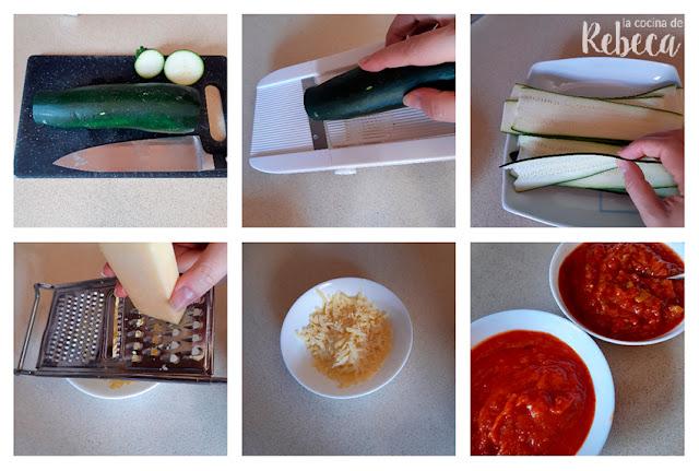 Receta de espirales de calabacín: preparación de los ingredientes