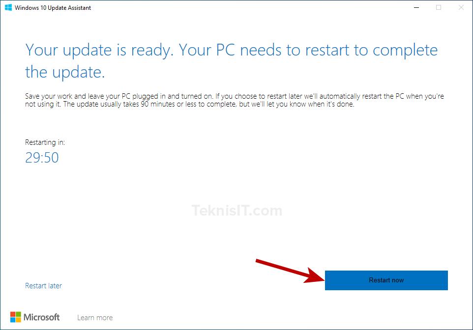 Cara update Windows 10 dengan Update Assistant