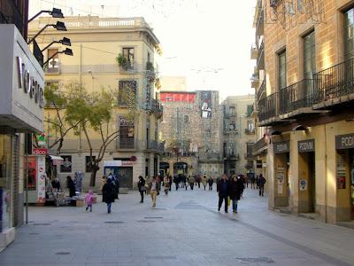 Portal del Angel shopping street in Barcelona