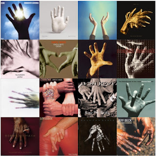 16 album covers featuring hands on them - part 1
