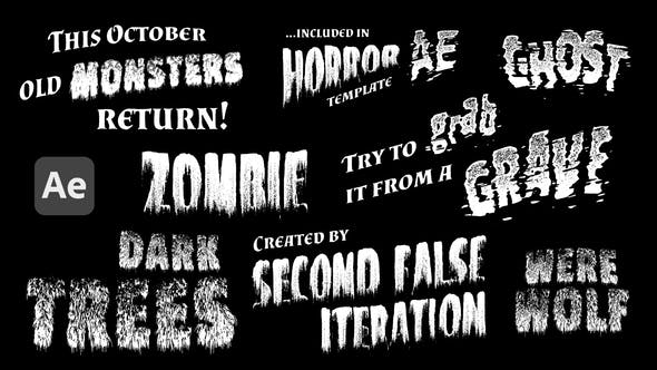 Monsters - Retro Horror Titles[Videohive][After Effects][29012308]