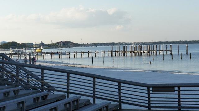 White Sand and Dock at Panama City Beach