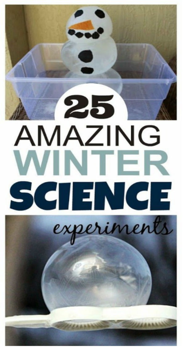 WINTER SCIENCE: 20+ experiments your kids will love!  #scienceforkids #scienceexperimentskids #winteractivitiesforkids #growingajeweledrose