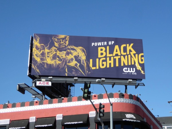 Black Lightning Power Up billboard