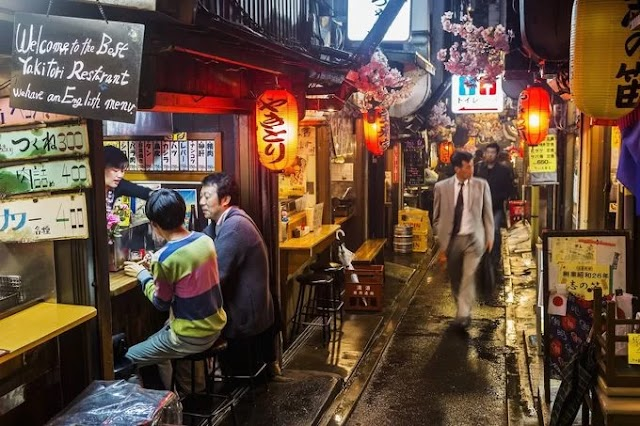 The 'urine alley' in Tokyo